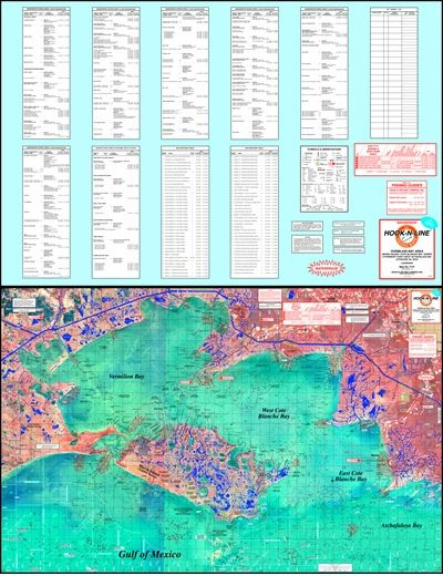Vermillion Bay Topographical Fishing Map with GPS