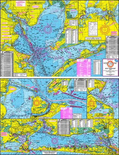 Galveston Bay Boat Fishing Topographical Map