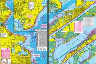West Galveston Bay Kayak and Wader's Topographical Map