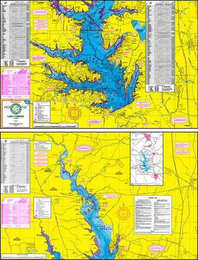 Lake Conroe Topographical Map