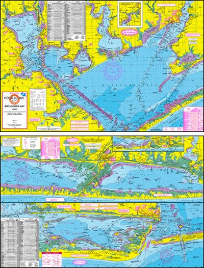 Matagorda Bay Topographical Fishing Map