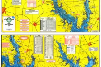 Lake Sam Rayburn Topographical Map