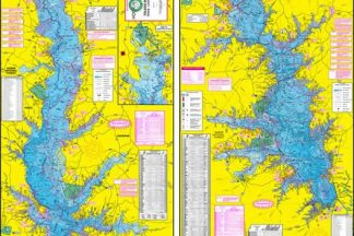 Toledo Bend Topographical Fishing Map