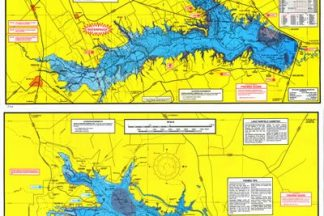 Richland Chambers & Lake Fairfield Topographical Map