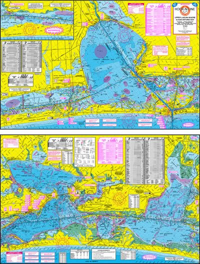 Upper Laguna Madre Topographical Fishing Map