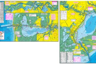 Sabine Lake & Calcasieu Lake Topographical Map