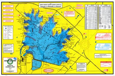 Fayette County Lake Topographical Map