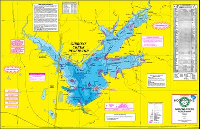 Gibbons Creek Reservoir Topographical Map