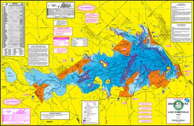 Lake Somerville Topographical Map