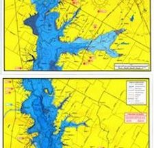 Cedar Creek Lake Topographical Map