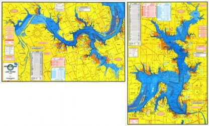 Lake Texoma Topographical Map