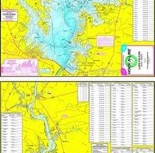 Lake Falcon Topographical Fishing Map