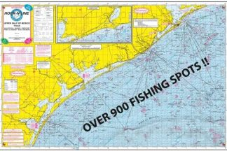 Gulf of Mexico Offshore Topographical Map with GPS